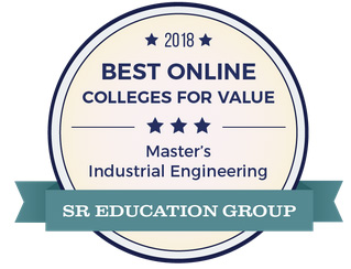 2018 Best Online Colleges for Value Master's Industrial Engineering SR Education Group