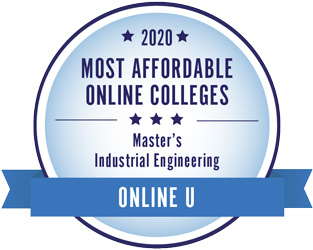 2020 Most Affordable Online Colleges, Master's in Industrial Engineering, Online U Badge