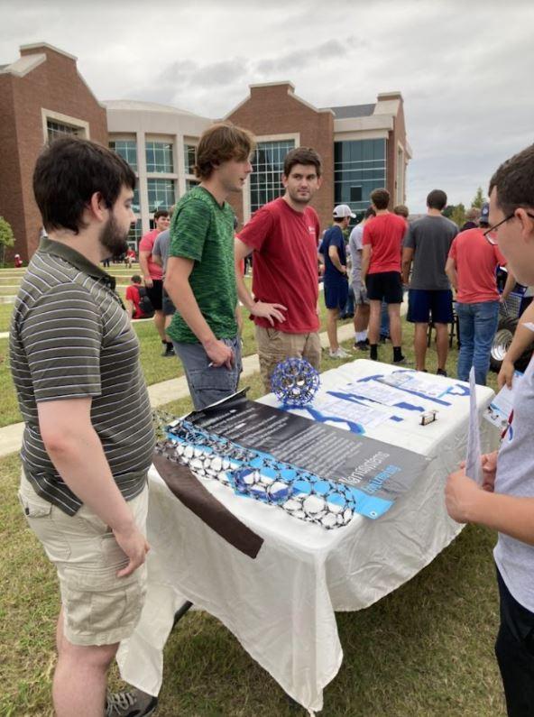 Louisiana Tech University IEEE Nanotechnology Council members at a table outside